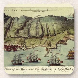 Dessous-de-verre Carte du Gibraltar 1765