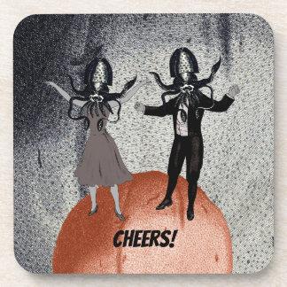 Dessous-de-verre Célébration de danse d'aliens