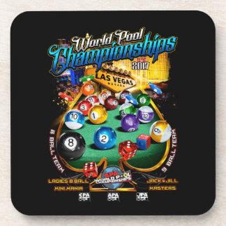 Dessous-de-verre Championnats 2017 de piscine du monde d'APA