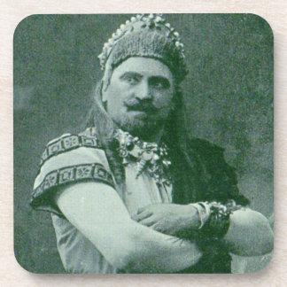 Dessous-de-verre chanteur français fou de l'opéra 1909