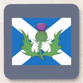 Dessous-de-verre Chardon écossais et Saltire