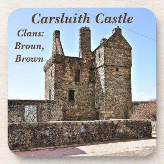 Dessous-de-verre Château de Carsluith -- Clan Broun/Brown