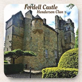 Dessous-de-verre Château de Fordell - clan de Henderson