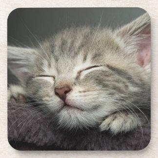 Dessous-de-verre Chaton somnolent