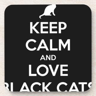 Dessous-de-verre Chats noirs d'amour
