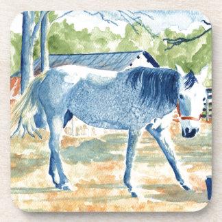 Dessous-de-verre Cheval bleu