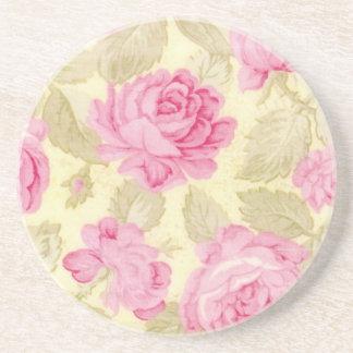 Dessous de verre chics minables de grès de roses