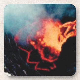Dessous-de-verre chutes de lave de la chaleur