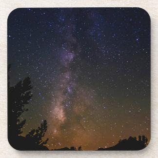 Dessous-de-verre Ciel nocturne de manière laiteuse, la Californie
