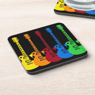 Dessous-de-verre Cinq guitares électriques