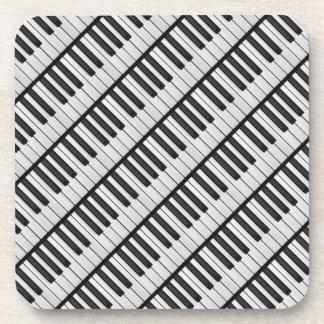 Dessous-de-verre Clés noires et blanches de piano