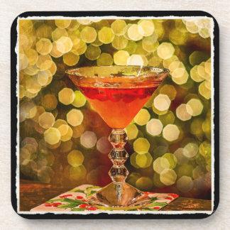 Dessous-de-verre Cocktail de vacances avec du plastique de