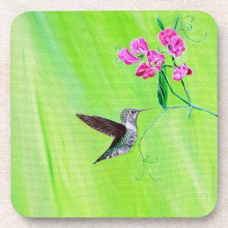 Dessous-de-verre Colibri et pois doux