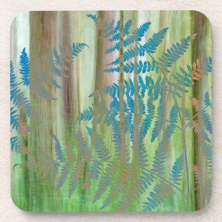 Dessous-de-verre Collage des fougères et de la forêt | Seabeck, WA