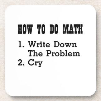 Dessous-de-verre Comment faire les T-shirts drôles de maths