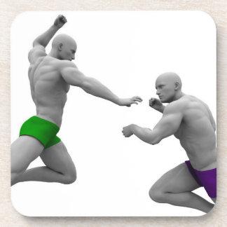 Dessous-de-verre Concept d'arts martiaux pour le combat et la
