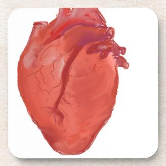 Dessous-de-verre Conception d'anatomie de coeur