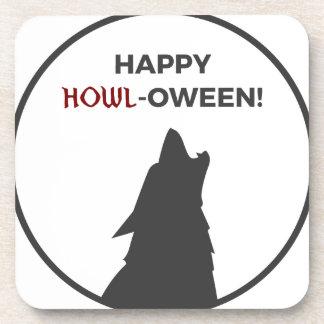 Dessous-de-verre Conception heureuse de Halloween de loup-garou