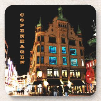 Dessous-de-verre Copenhague, Danemark la nuit
