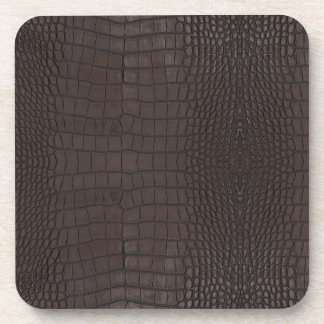 Dessous-de-verre Copie de cuir de Brown d'alligator