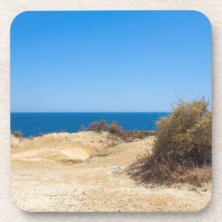 Dessous-de-verre Côte avec la mer bleue et le sky.JPG