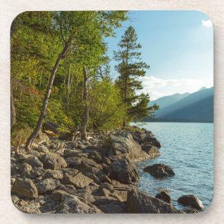 Dessous-de-verre Côte de Teton de lac jenny