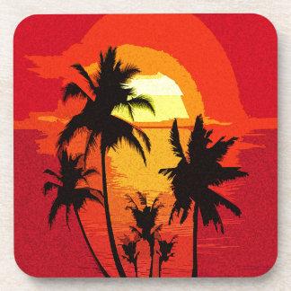 Dessous-de-verre Coucher du soleil tropical