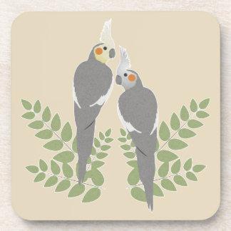 Dessous-de-verre Couples de Cockatiel