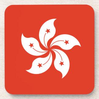 Dessous-de-verre Coût bas ! Drapeau de Hong Kong