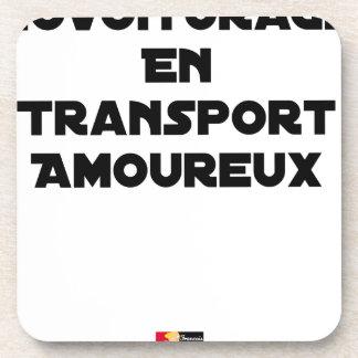 Dessous-de-verre COVOITURAGE EN TRANSPORT AMOUREUX - Jeux de mots