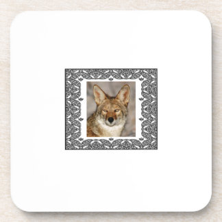 Dessous-de-verre coyote dans un cadre
