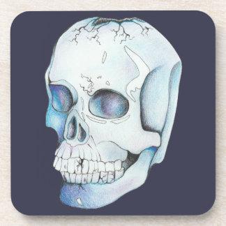 Dessous-de-verre Crâne en cristal criqué