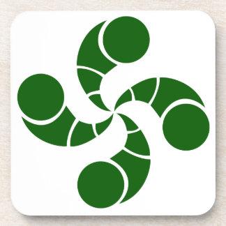 Dessous-de-verre Croix basque destructuré verte
