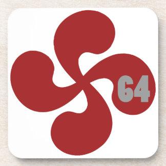 Dessous-de-verre Croix basque rouge 64 Lauburu