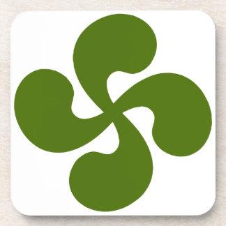 Dessous-de-verre Croix Basque Verte