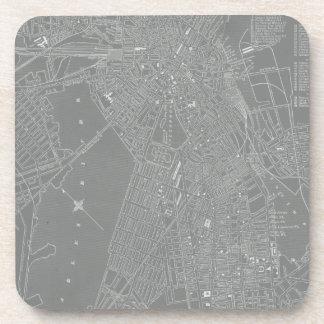 Dessous-de-verre Croquis de carte de ville de Boston