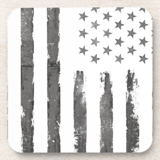 Dessous-de-verre Cru gris militaire de drapeau d'Armerican