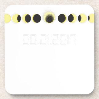 Dessous-de-verre Cycle total d'éclipse solaire