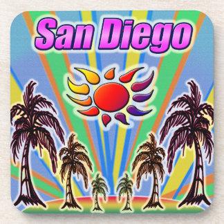 Dessous de verre d'amour d'été de San Diego