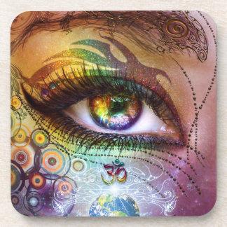 Dessous de verre d'amour et de lumière d'oeil
