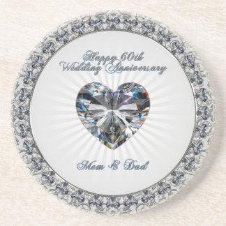 Dessous de verre d'anniversaire de mariage de