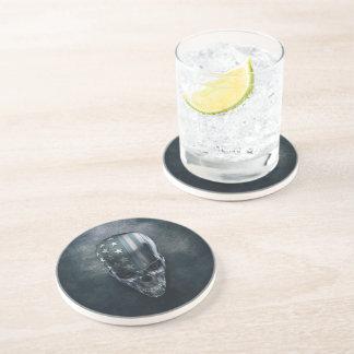 Dessous de verre de boissons de grès de crâne de