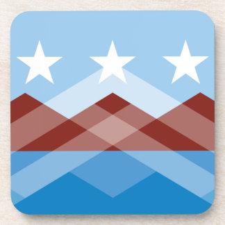 Dessous de verre de drapeau de Peoria