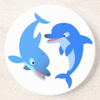 Dessous de verre de jeu mignons de dauphins de