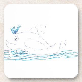 Dessous de verre de liège de baleine d'imbécile
