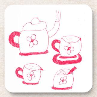 Dessous de verre de liège de carré de temps de thé
