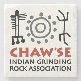 Dessous de verre de marbre de Chaw'se Dessous-de-verre En Pierre
