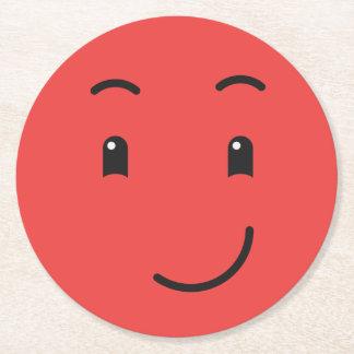 Dessous de verre de papier souriants mignons 1/9 dessous-de-verre rond en papier