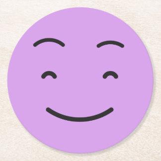 Dessous de verre de papier souriants mignons 4/9 dessous-de-verre rond en papier