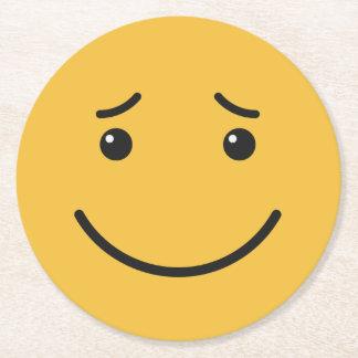 Dessous de verre de papier souriants mignons 6/9 dessous-de-verre rond en papier